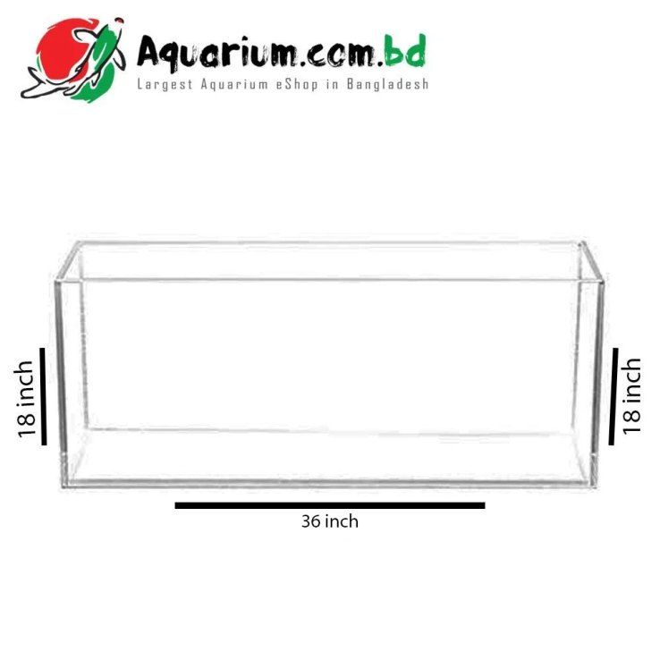 "181 Ltr. 36""x18""x18"" Crystal Glass Aquarium - Glass Thickness 8mm"