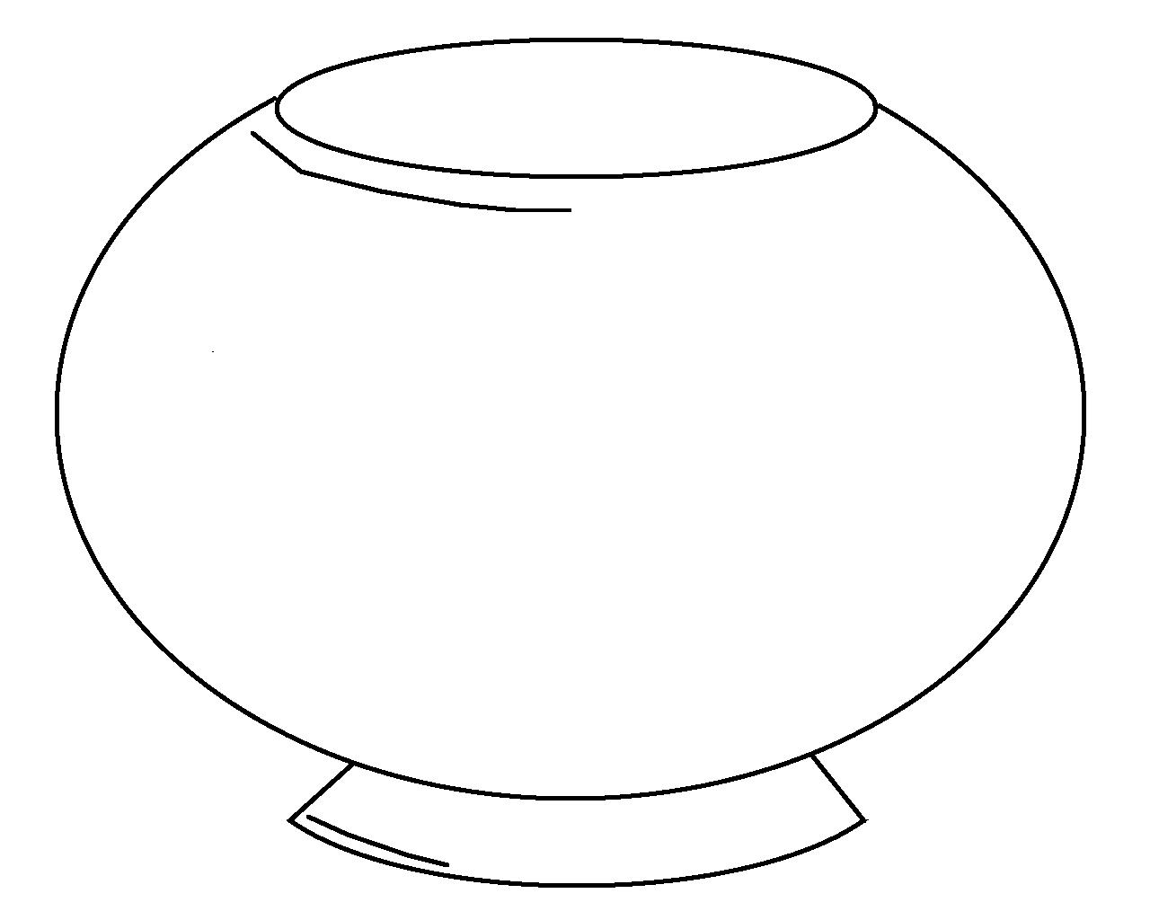 goldfish bowl coloring page fishbowl coloring page