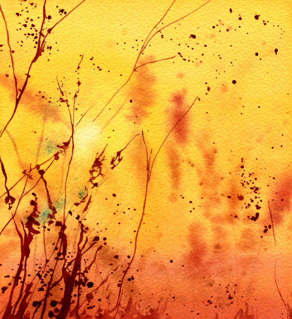 Sample of painting in warm colors