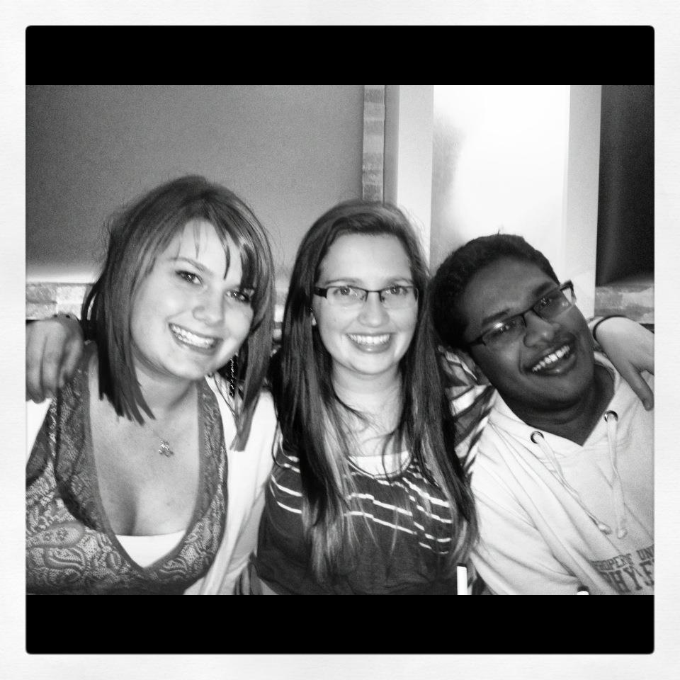 From left to right: Amanda's friend Erin, Amanda and their friend Christian.