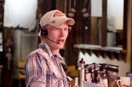 Assistant Director Ryan Port talking to his fellow crew members.