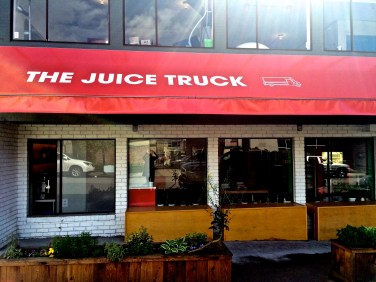 Outside The Juice Truck Store in Toronto. Photo by Sarah Bernstein.