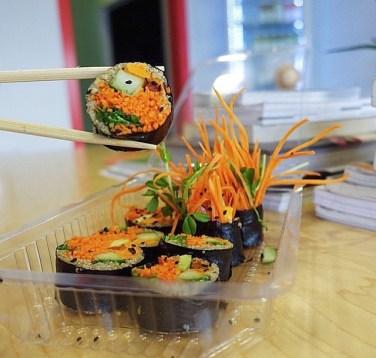 Sushi from The Juice Truck. Photo via: https://instagram.com/juicetruck/.