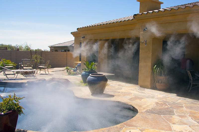patio misting system mistfx fog vs