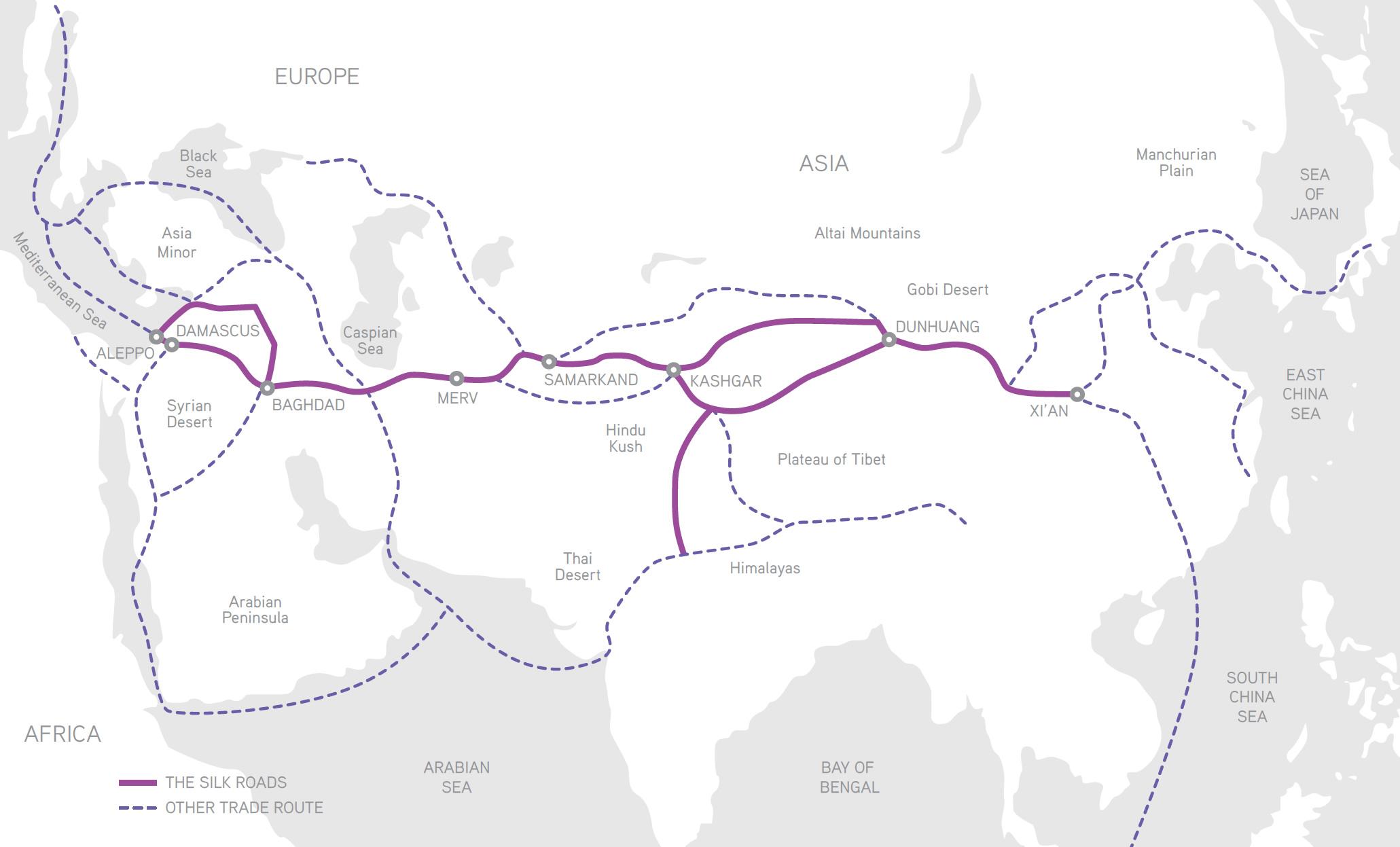 The Silk Road Aquascript