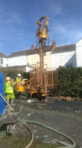 Groud source Drilling for Social Housing in Cornwall