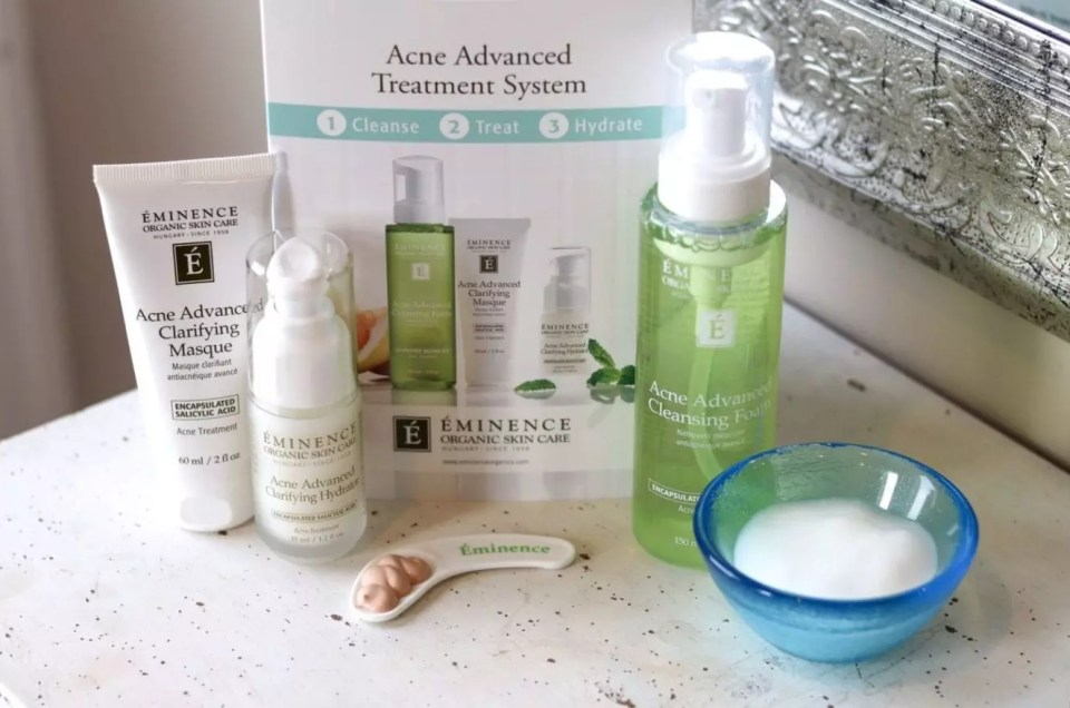 Eminence Acne Advanced Treatment Facials and Products at AQUA Spa