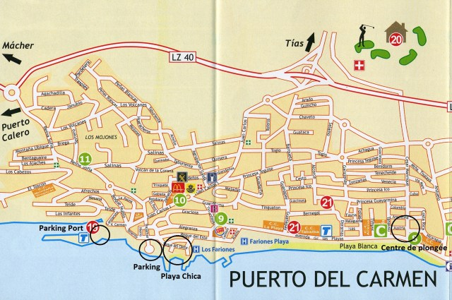 Carte Playa Chica