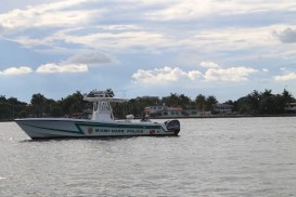 Miami-Dade Police stopping crowded boat.