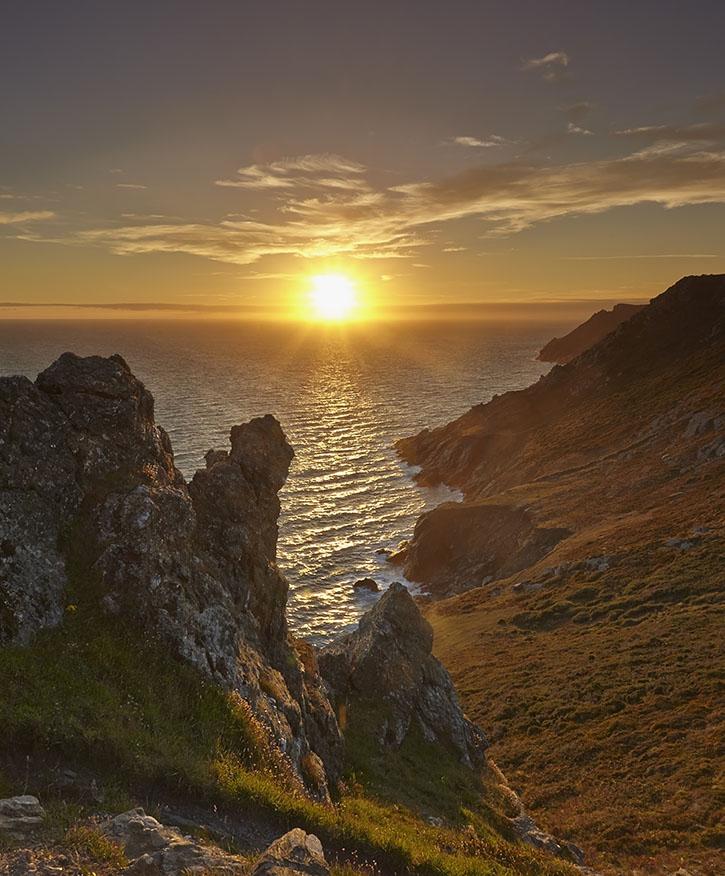 The Coast at Sunset print