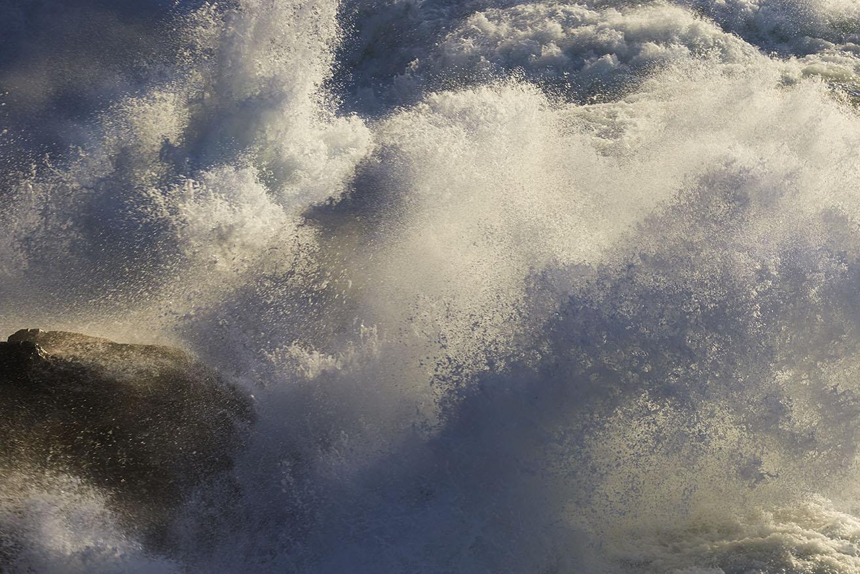 Sunlit Atlantic Surf print