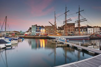 Sutton Harbour at Dusk, Plymouth print