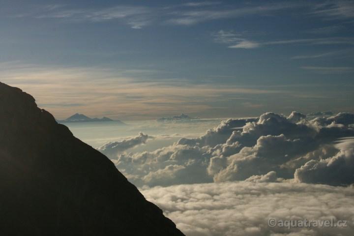 Sopka Rinjani na Lomboku z Agungu