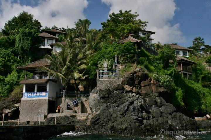 Selang Bali potápěčské centrum z moře