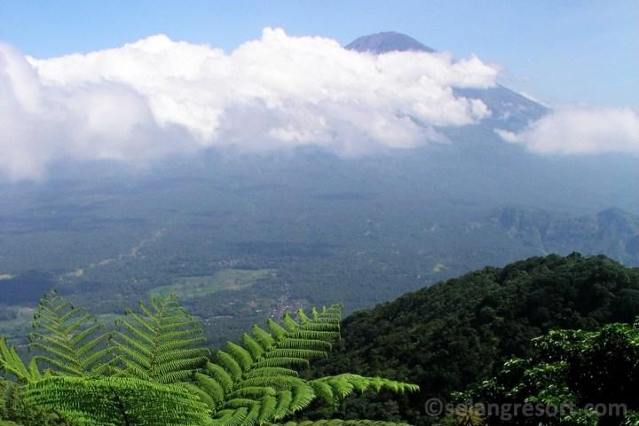 Pohled na sopku Agung