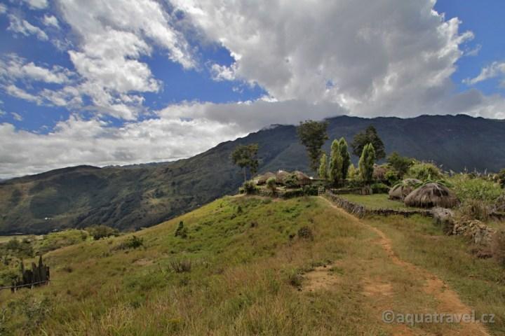 Kurima tradiční domy honay kmene Dani