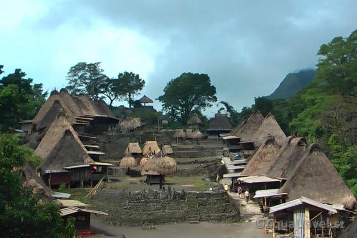 Bena tradiční vesnice Ngadu Bhaga