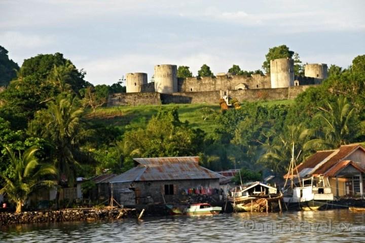 Pevnost Belgica z moře