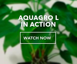 AquaGro L in action button