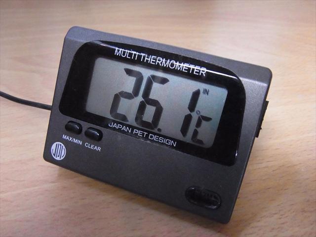 水温は26.1℃まで上昇