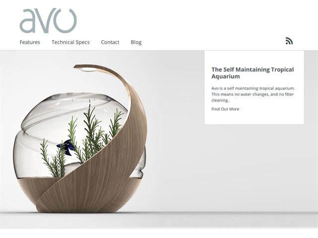 イギリスで開発中のセルフクリーニング水槽「Avo」