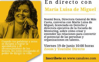 Entrevista en Canal Ceo «Inspiración» el 19 de Junio sobre liderazgo, talento, cambio, diversidad