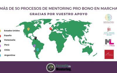 Más de 50 procesos de mentoring Pro Bono en marcha en 6 países