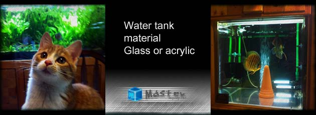 水槽の素材!選ぶならガラスそれともアクリル?