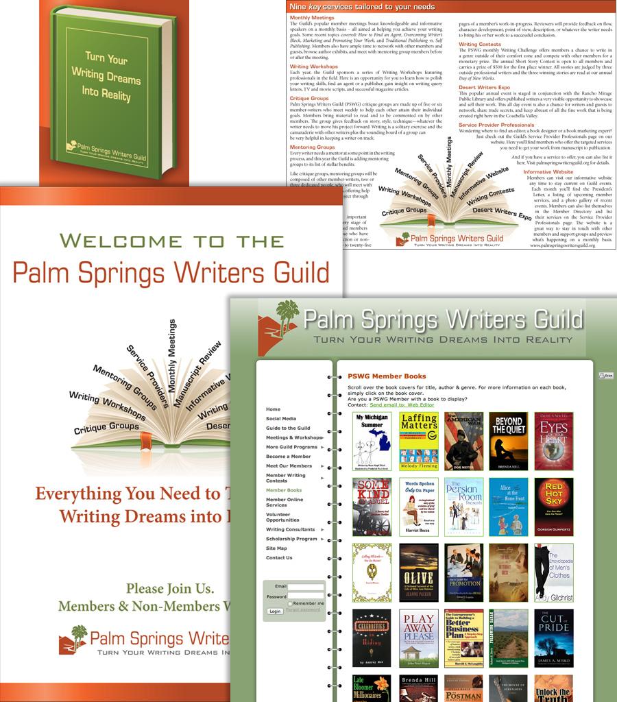 Palm Springs Writers Guild Branding