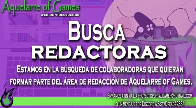 Aquelarre of Games busca redactoras sobre videojuegos ¡sumate!