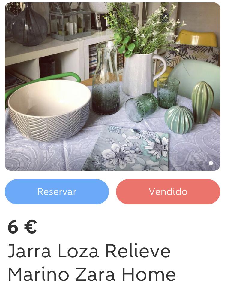 Jarra Loza Relieve Marino - Zara Home