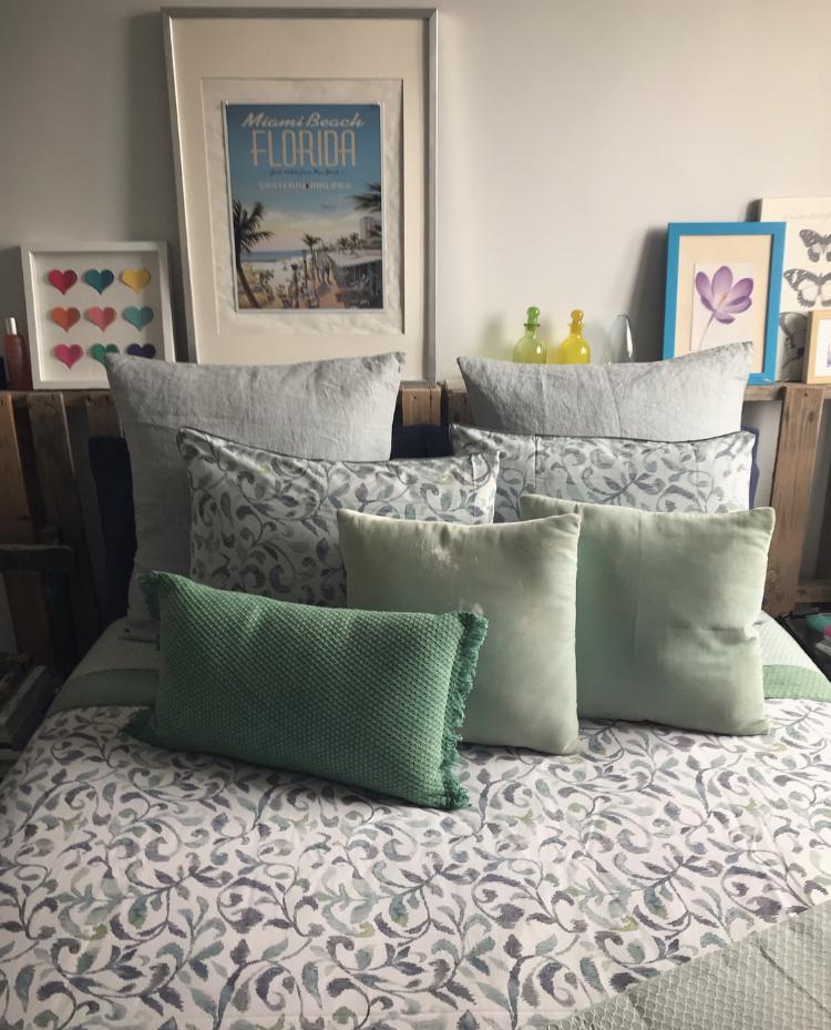 Azules y verdes en tu dormitorio - Zara Home