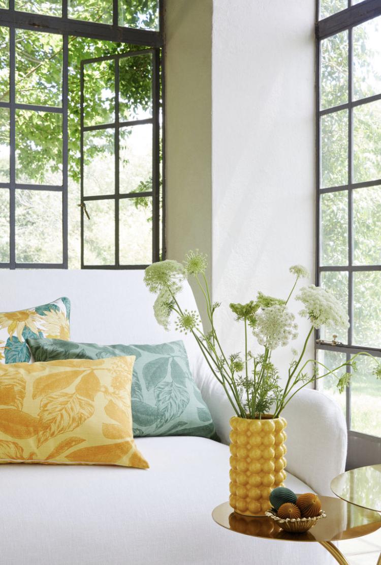 Cojin Flameado Estampado Floral de H&M Home