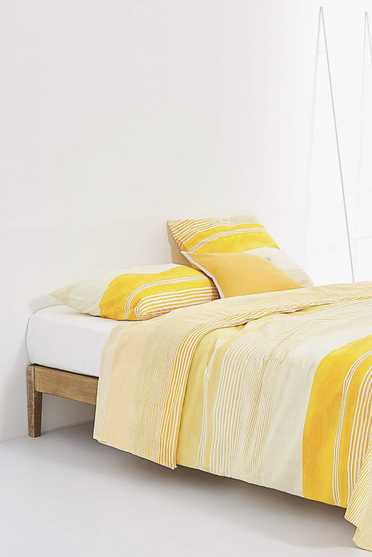 Sábana Encimera Rayas Amarillas de Zara Home