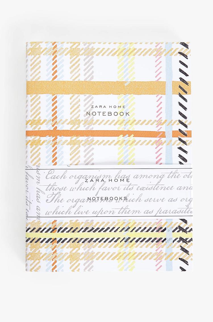 Cuaderno Estampado Cuadros (Set de 3) de Zara Home