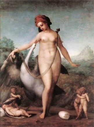 jacomo-pontormo-Leda-and-the-Swan-1513