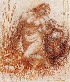 Leda boceto Da Vinci