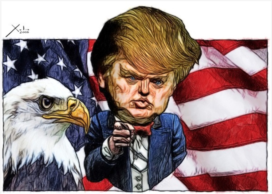 Donald Trump por Xulio Formoso