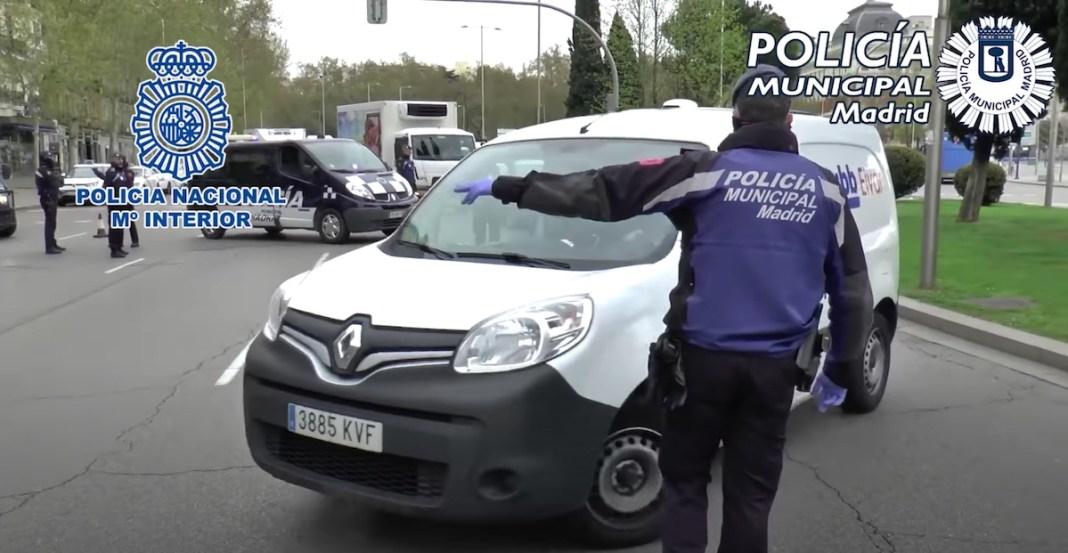 Policía municipal Madrid controles confinamiento