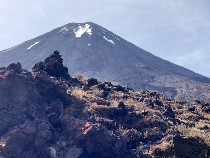Vista del monte Tongariro, el