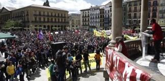Concentración sindical en Pamplona el 1 de mayo de 2019