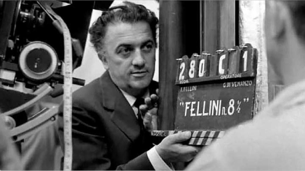 Fellini en la primera toma de ocho y medio