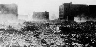 ONU/Mitsugu Kishida: Hiroshima después de que Estados Unidos lanzara una bomba nuclear el 6 de agosto de 1945