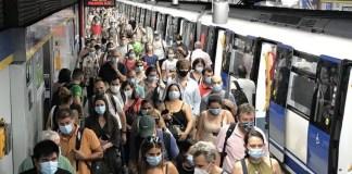 Metro de Madrid en periodo de confinamiento