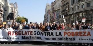 Madrid, manifestación contra la pobreza
