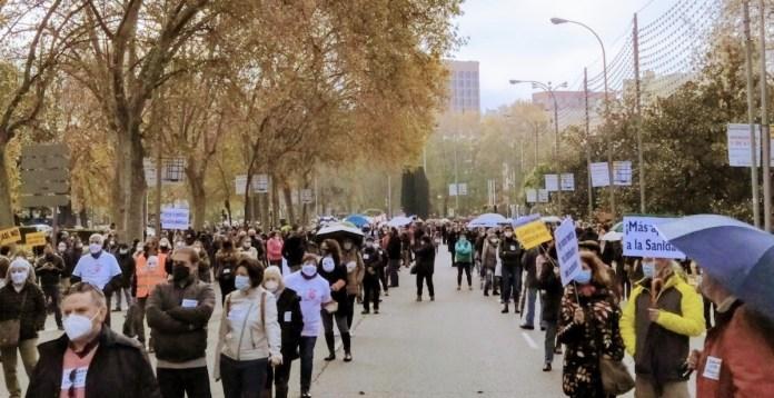 Mani sanidad pública Madrid 29NOV2020