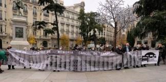 Carabanchel centro memoria cárcel pancarta