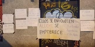 Salones juego protestas Aluche
