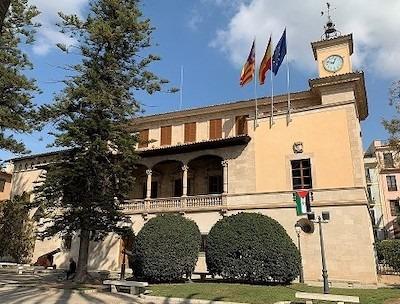 La bandera saharaui en la sede del Gobierno de las Islas Baleares