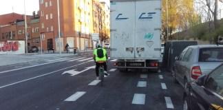 Pedalibre: carril bici pintado y no protegido